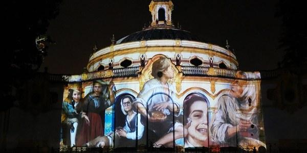 """La fachada del Casino de la Exposición acoge el espectáculo de 'mapping' """"Los niños de Murillo"""" dentro de la programación navideña Alumbra"""