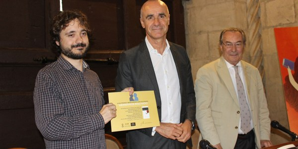 La Feria del Libro acoge la entrega y presentación del VIII Premio Hermanos Machado, que ha recaído en Aitor Francos por el poemario 'Las gafas de Pessoa'
