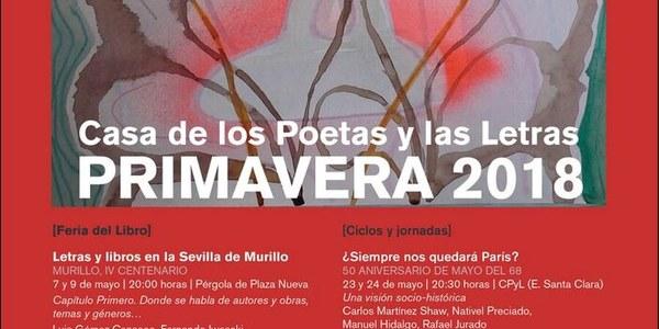 La Feria del Libro, el ciclo de Poesía Joven o las jornadas sobre Mayo del 68 vertebran la primavera de la Casa de los Poetas y las Letras