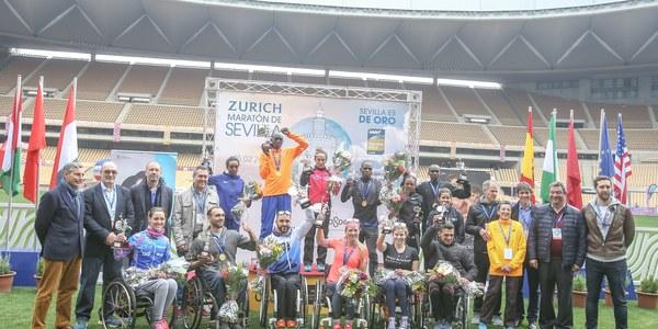 La marroquí Kaoutar Boulaid logra el nuevo récord del Zurich Maratón de Sevilla y el keniano Dickson Kipsang vence  en la categoría masculina
