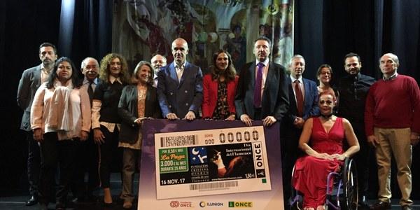 La ONCE dedica a la Fundación Cristina Heeren el cupón del Día Internacional del Flamenco