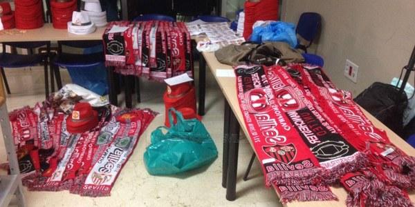 La Policía Local interviene 1.000 artículos falsos con anagramas de equipos de fútbol