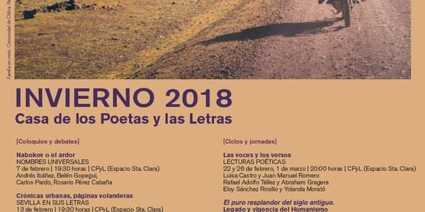 Las jornadas dedicadas al Humanismo y autores como  Aleixandre, Nabokov o García Ulecia vertebran el invierno 2018 de la Casa  de los Poetas y las Letras