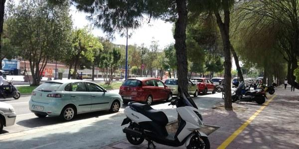 Las plazas para motos en el entorno de Torre Sevilla se triplican con nuevas zonas de aparcamiento