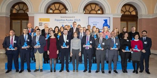 Lipasam recibe por segundo año consecutivo el premio 'Pajarita Azul' por la gestión de la recogida de papel y cartón