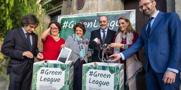 Lipasam, Tussam y Emasesa  se suman a la iniciativa #GreenLeague que instalará 27 puntos de recogida de residuos de aparatos eléctricos y electrónicos en empresas  e instituciones de Sevilla