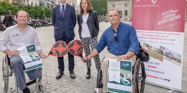 Los mejores palistas  participan del 4 al 6 de mayo en el Open de Pádel en Silla  de Ruedas de Sevilla
