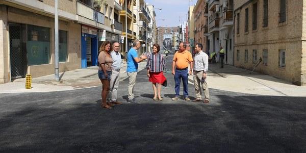 Reabre la calle Virgen de Fátima, en Triana, tras culminar las obras de renovación reurbanización