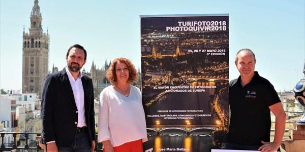 Más de 1.100 fotógrafos aficionados de toda Europa se citan en la sexta edición de Turifoto-Photoquivir 2018, que se celebrará en la ciudad de Sevilla entre los días 25 y 27 de mayo