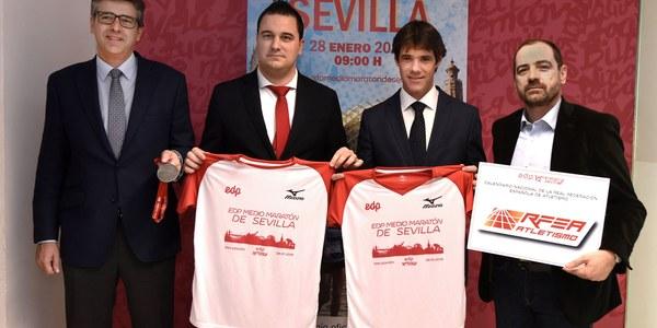 Más de 8.000 inscritos baten el récord de participación de la Media Maratón de Sevilla a un mes  de su celebración