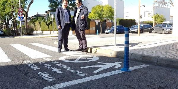 Movilidad pone en marcha una campaña para la mejora de la visibilidad en los pasos de peatones sin semáforos con el objetivo de aumentar la seguridad vial de viandantes y ciclistas