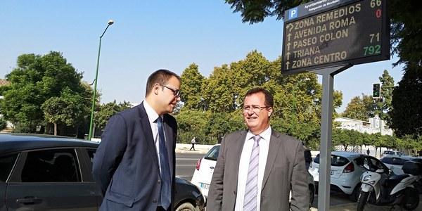 Nueva red de paneles que informan en tiempo real sobre incidencias del tráfico o las plazas disponibles en los aparcamientos