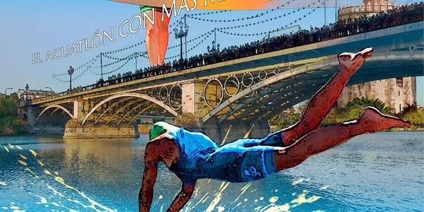 Presentación del VII Cinc Acuatlón Velá de Triana 'Memorial Íñigo Vallejo', que se consolida como una de las grandes citas deportivas del verano