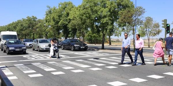 Renovación de la pintura de 13 arterias principales de la ciudad con mejoras para la seguridad vial