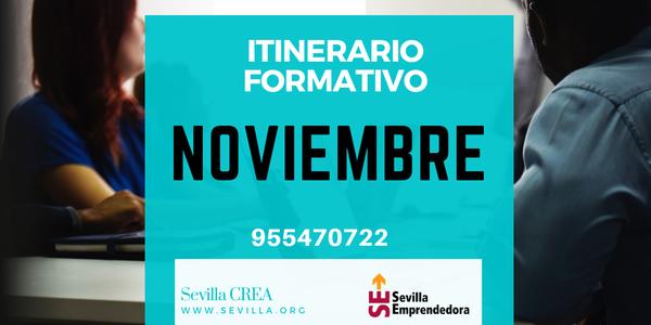 Sevilla Emprendedora - Ya disponible el calendario formativo de noviembre