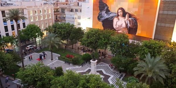 Sevilla homenajea a Murillo con una Inmaculada Colosal pintada por miles de ciudadanos