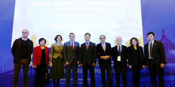 Sevilla ofrece albergar la sede en Europa de la Federación Mundial de Ciudades Turísticas en el marco de su estrategia para impulsar el turismo y la inversión empresarial china aprovechando el Año Magallanes y la Ruta de la Seda
