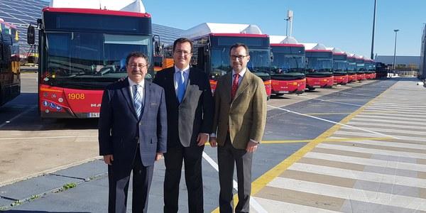 Tussam incorpora 15 nuevos autobuses más respetuosos con el medio ambiente y adaptados a personas con diversidad funcional tras invertir 4 millones de euros