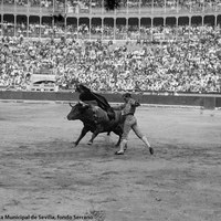 7- Faena de Joselito en el centro de la plaza de toros Monumental de Madrid. 1919-1920
