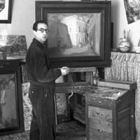 13.- Andrés Martínez de León en su estudio de Madrid. 1932 ©ICAS-SAHP, Fototeca Municipal de Sevilla, fondo Serrano