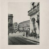 4- Sevilla. Plaza de San Francisco desde la calle Génova (actual avenida de la Constitución). 1892 ©ICAS-SAHP, Biblioteca del SAHP
