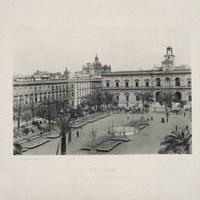 5- Sevilla. Plaza Nueva y Ayuntamiento. 1893 ©ICAS-SAHP, Biblioteca del SAHP