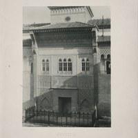 6- Sevilla. Real Alcázar. Portada del Palacio de Pedro I en el Patio de la Montería.1892 ©ICAS-SAHP, Biblioteca del SAHP