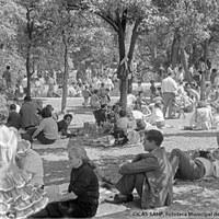 La expansión urbanística redujo las dimensiones del Real y así el cercano Parque de María Luisa se convirtió para los sevillanos en lugar de acampada y descanso, de almuerzos y siestas sin recato. 1970