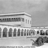 31. Hospital Psiquiátrico de Miraflores.  Bendición de nuevas instalaciones. Vista de uno de los pabellones inaugurados. 1949 ©ICAS-SAHP, Fototeca Municipal de Sevilla, archivo Gelán