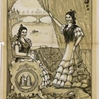 1. Triana en Fiestas. Velada de Santiago y Santa Ana. 1948. Cartel. Firma: M. Sánchez Rodríguez ©ICAS-SAHP, Archivo Municipal de Sevilla