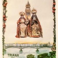 2. Velá de Santiago y Santana. 1985. Cartel ©ICAS-SAHP, Archivo Municipal de Sevilla