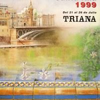 15. Velá de Santiago y Santa Ana. 1999. Cartel. Firma: Antonio Traverso ©ICAS-SAHP, Archivo Municipal de Sevilla