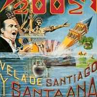 17. Triana. Velá de Santiago y Santa Ana. 2002. Cartel. Firma: José Luis Gervasine ©ICAS-SAHP, Archivo Municipal de Sevilla