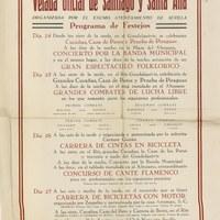25. Velada de Santiago y Santa Ana. 1952. Programa ©ICAS-SAHP, Archivo Municipal de Sevilla