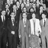 02.- Primera Diputación Provincial democrática tras la toma de posesión con Manuel del Valle al frente. 1979 ©ICAS-SAHP, Fototeca Municipal de Sevilla, fondo Alcaldía de Sevilla