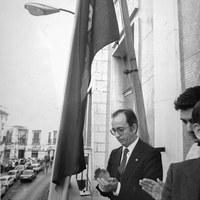 27.- El alcalde Manuel del Valle en el Instituto San Isidoro. ©ICAS-SAHP, Fototeca Municipal de Sevilla, fondo Alcaldía de Sevilla