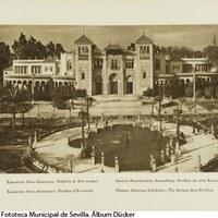 Pabellón de Arte Antiguo en la Plaza de América, actual Museo de Artes y Costumbres Populares de Sevilla. 1929 ©ICAS-SAHP, Fototeca Municipal de Sevilla. Álbum Dücker