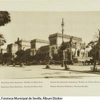 Pabellón de Bellas Artes en la Plaza de América. El edificio es hoy la sede del Museo Arqueológico de Sevilla. 1929. ©ICAS-SAHP, Fototeca Municipal de Sevilla. Álbum Dücker