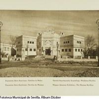 Pabellón de México en la Avenida de la Delicias, hoy pertenece al Vicerrectorado de la Universidad de Sevilla. 1929 ©ICAS-SAHP, Fototeca Municipal de Sevilla. Álbum Dücker