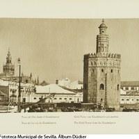 Muelle de la Sal, Torre del Oro y Torre de la Plata. 1929 ©ICAS-SAHP, Fototeca Municipal de Sevilla. Álbum Dücker