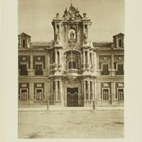 Fachada principal del Palacio de San Telmo, hoy sede de la Presidencia de la Junta de Andalucía. 1929 ©ICAS-SAHP, Fototeca Municipal de Sevilla. Álbum Dücker