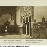 18-Salón de San Fernando o Alcoba Real en el Alcázar. 1929 ©ICAS-SAHP, Fototeca Municipal de Sevilla. Álbum Dücker
