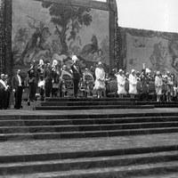 Inauguración de la Exposición Iberoamericana en la Plaza de España con presencia del Gobierno y la Familia Real. 9 de mayo de 1929 ©ICAS-SAHP, Fototeca Municipal de Sevilla, fondo Serrano