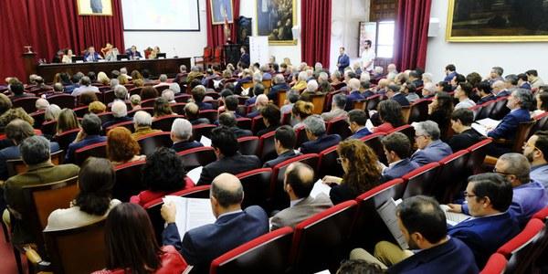 Presentación del Plan Estratégico Sevilla 2030 celebrado en el Paraninfo de la Universidad de Sevilla