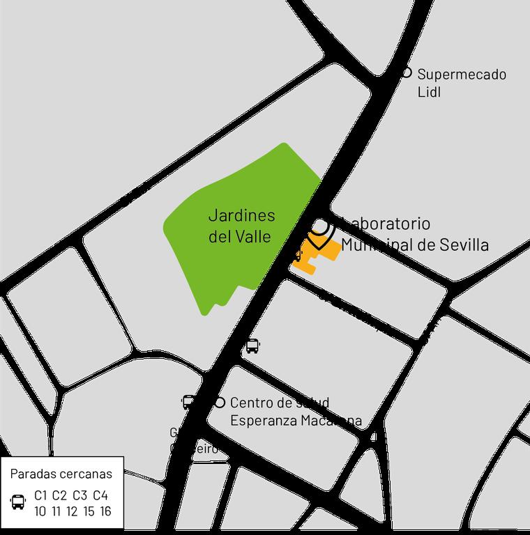 mapa de localización del laboratorio