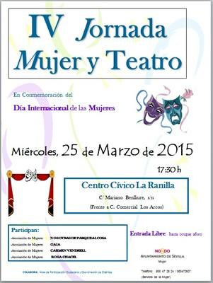 Cartel Mujer y Teatro