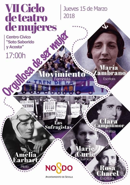 Cartel VII Ciclo Teatro de Mujeres 2018