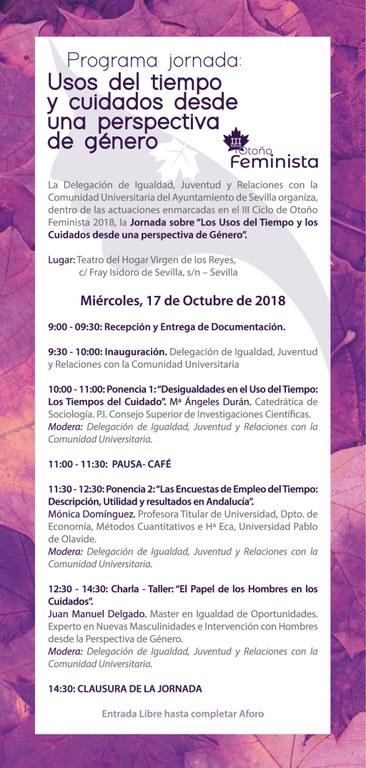Programa Jornada 17 octubre 2018