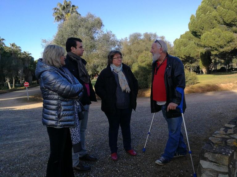 Representantes del Ayuntamiento de Sevilla visitan junto a Cecilio Gordillo La Corchuela para señalizar dónde se estuvo el campo de concentración