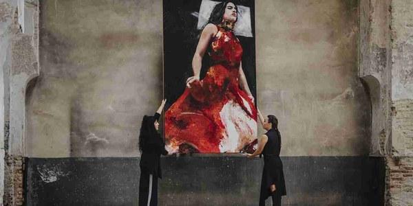 Rocío Molina deconstruye la obra pictórica realizada por Lita Cabellut para la Bienal